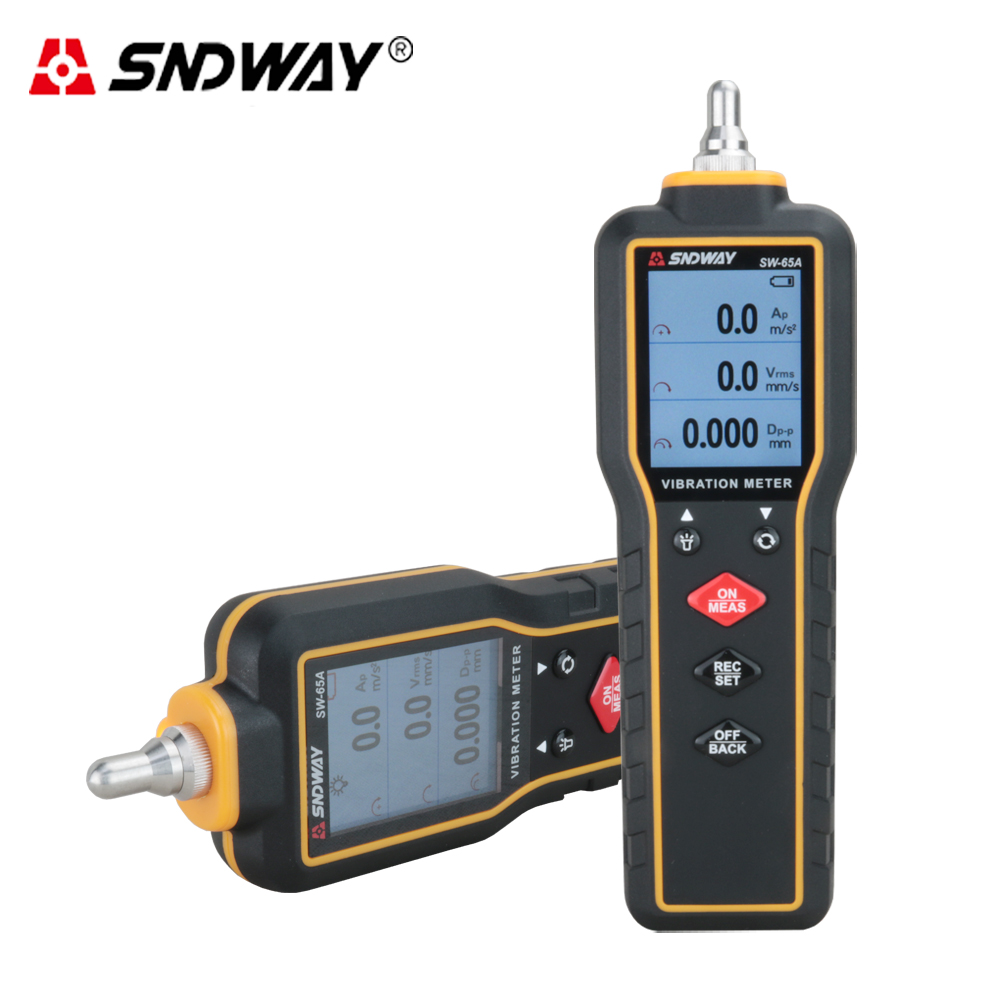 SNDWAY Digital vibration meter High precision vibration analyzer measure LCD Vibrometer vibration Tester measurement units vibration of orthotropic rectangular plate