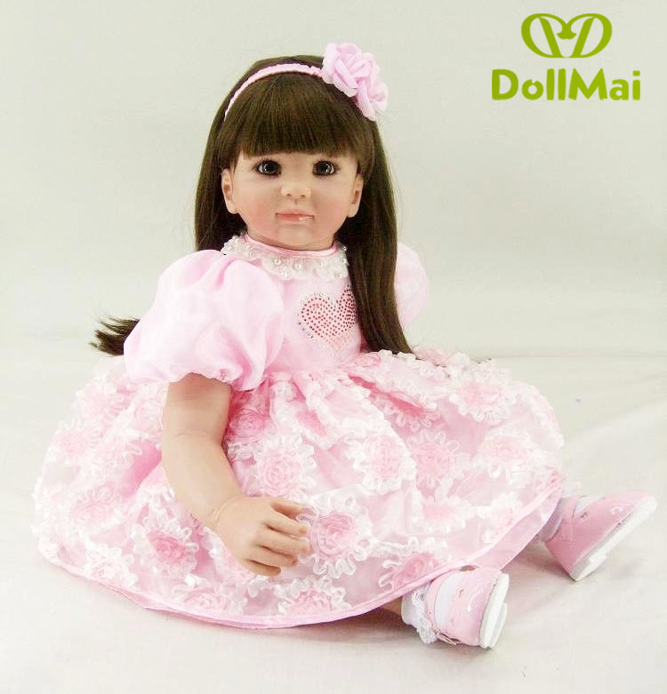 23inch 58cm Bebe Baby Doll Reborn Soft Silicone Boy Girl Toy Reborn Baby Doll Gift for