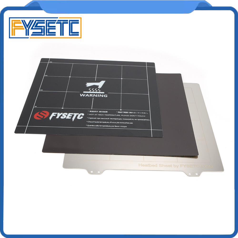 Magnetic Heatbed Build Surface B Plate Sheet For Creality Ender-3 /3s Tevo Flash 100% High Quality Materials 235x235mm Spring Steel Sheet Plate Sticker