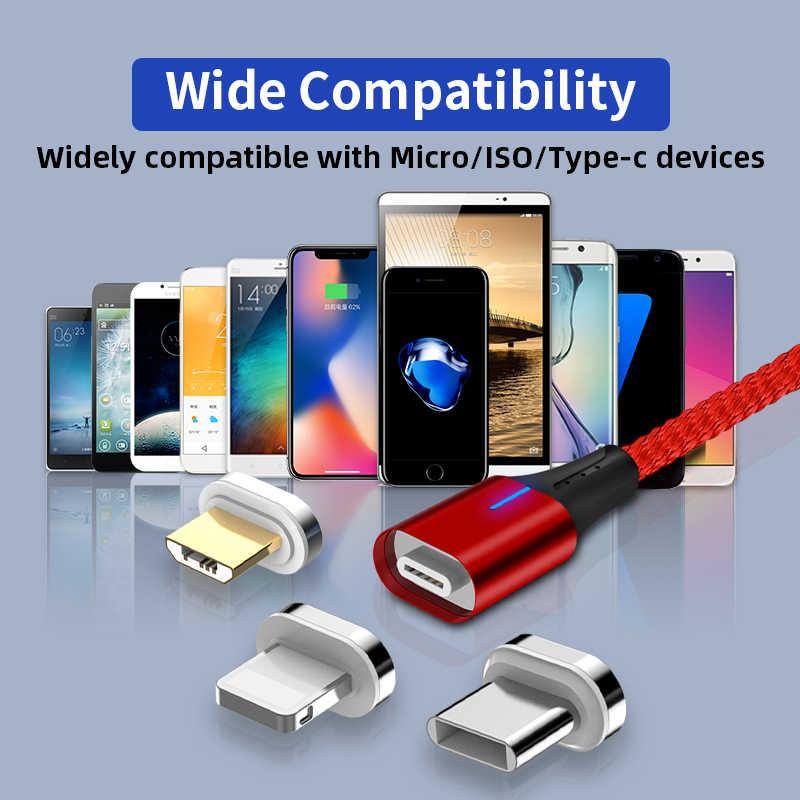 GREENPORT Быстрая зарядка Магнитная кабель Micro usb-кабель для передачи данных и для зарядки телефона для быстрой зарядки Магнитный шнур для Android Мобильный Зарядное устройство провода
