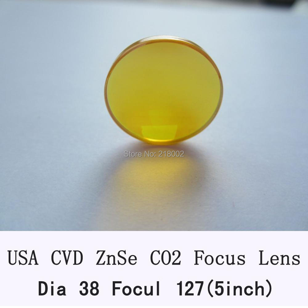 USA CVD ZnSe Focus Lens DIa. 38/38.1mm FL127mm for CO2 Laser co2 laser engrave machine co2 laser cutting machine