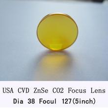 USA CVD DIa ZnSe Ostrość Obiektywu. 38/38. 1mm FL127mm dla grawerować laserem CO2 Laser co2 co2 urządzenie do cięcia laserowego