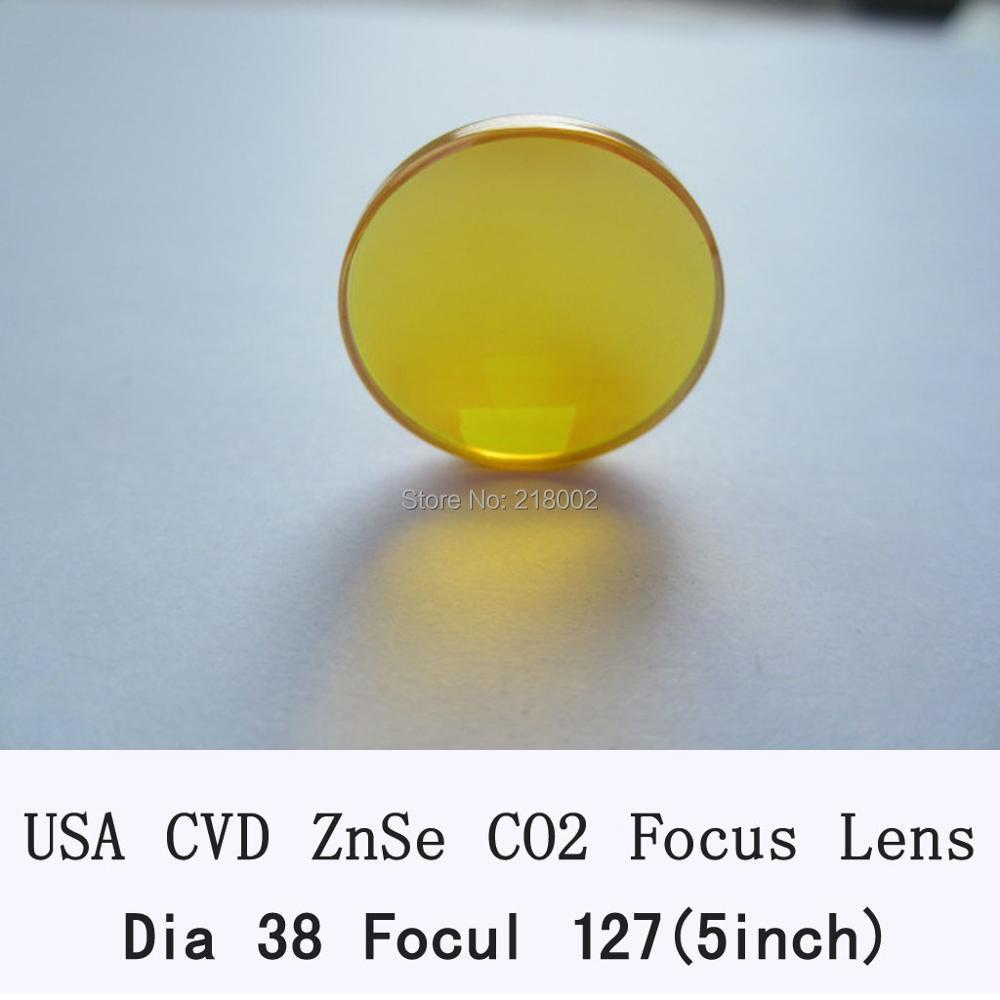 USA CVD ZnSe Focus Lens DIa. 38/38.1mm FL127mm for CO2 Laser co2 laser engrave machine co2 laser cutting machine