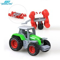 RCtown 4Pcs Set Children Simulation Alloy Farm Tractor Engineering Truck Toys Xmas Vehicles Models Gifts Zk30