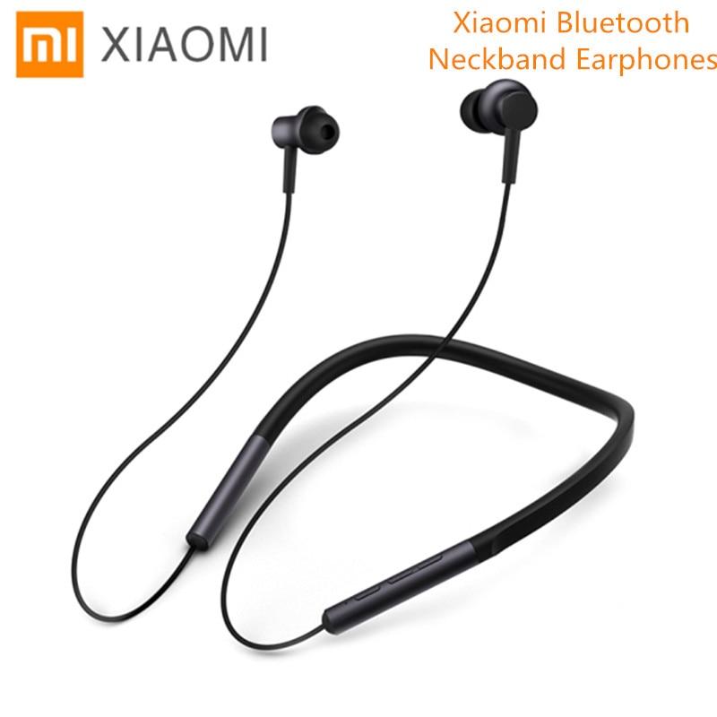 где купить Original Xiaomi Mi Bluetooth Neckband Earphones Wireless Apt-X Hybrid Dual Cell With Mic For Mobile Phone Android IOS System дешево