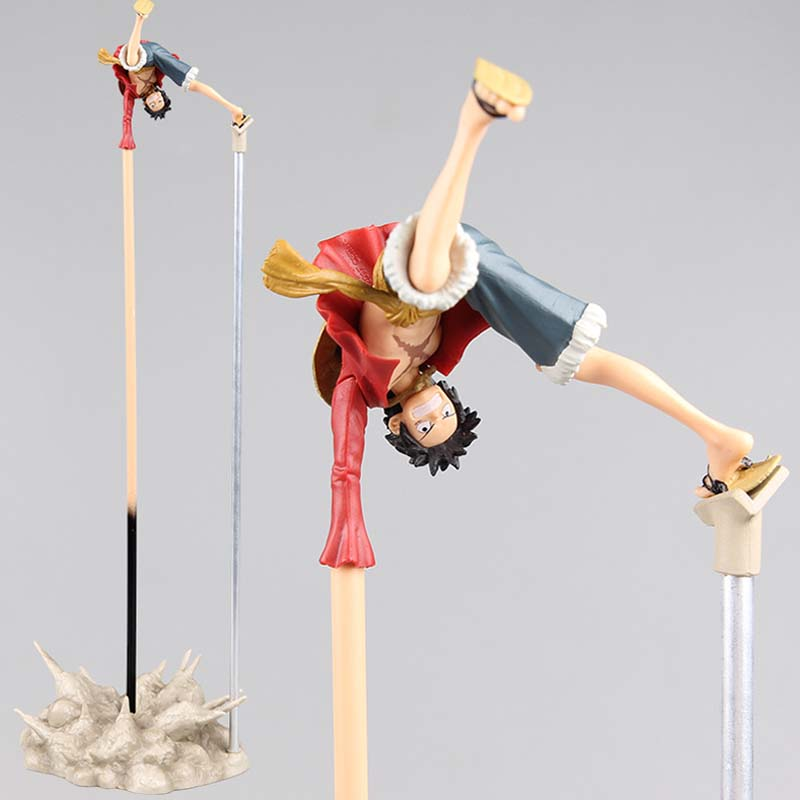 ONE PIECE Luffy PVC Action Figure Collection Model Toy 8cm Size Anime Toys 35cm height free shipping super big size 12 super mario with star action figure display collection model toy