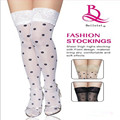 Black Spots Sexy Women Thin Thigh High Silk Stocking With Lace Female stockings Thick Slim Show Thin Leg Shaper Fat Tights