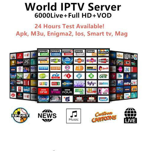 6000 Channels World Global IPTV Europe UK Germany Italy Nordic Latin 12 Month Subscription For M3U Mag Enigma2 Android Smart TV