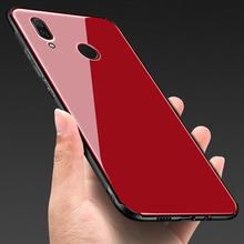 Tempered Glass Case for Huawei Nova 3 Hard Back Cover Soft Silicone Bumper For Nova3