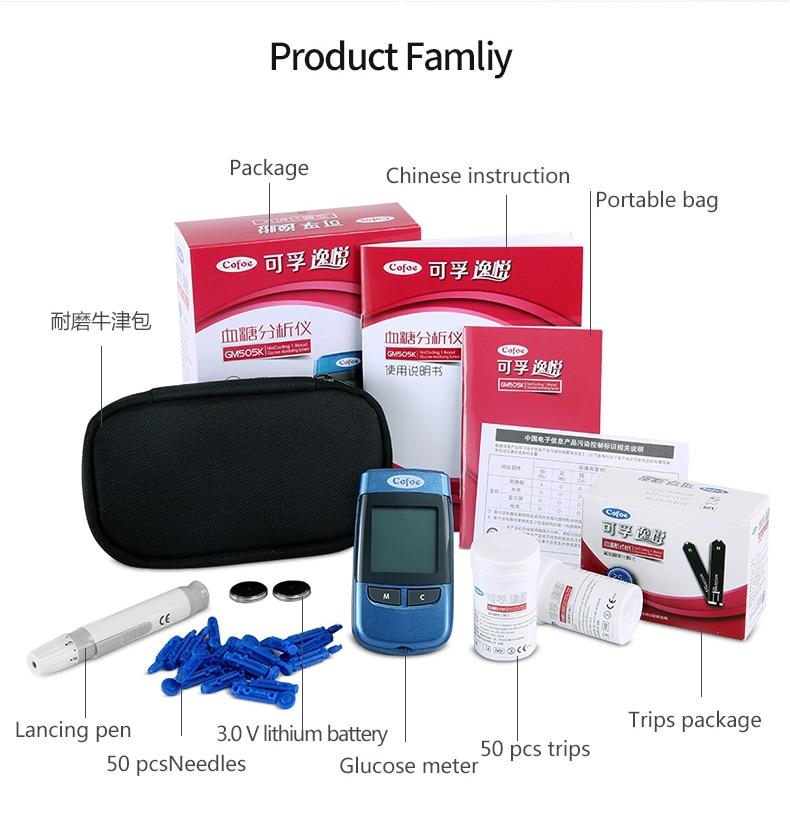 codificação Médica Medidor de Açúcar No Sangue Diabetes Glucometer Tester