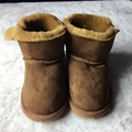 De alta calidad de invierno muy duro suela de nieve caliente Del Bebé hecho a mano Del Niño primeros caminante Del Bebé zapatos de bebé mocasines botas al aire libre