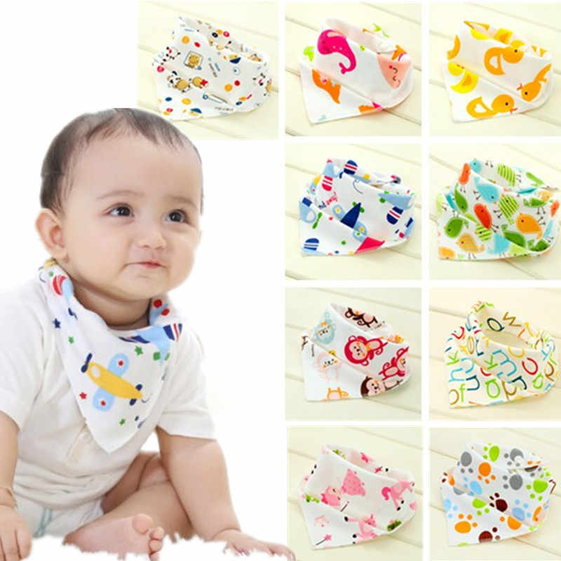 Baby Bibs Waterproof Triangle Cotton Cartoon Child Bibs Dribble Bibs Newborn Absorbent Cloth 20%Off