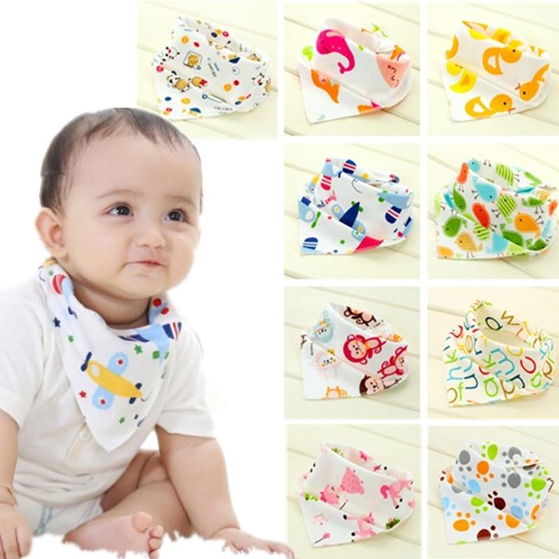 Baby Bibs Waterproof Triangle Cotton Cartoon Child Bibs Dribble Bibs Newborn Absorbent Cloth 20%Off(China)