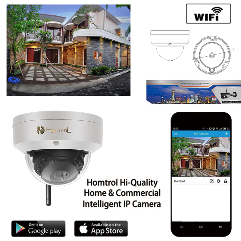 CCTV 720P Dome Camera Wifi IP Camera Day Night Vision Wireless HD P2P Security Camera IOS Android APP