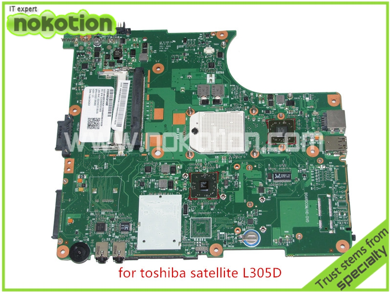 NOKOTION SPS V000138980 For toshiba satellite L300 L305D Motherboard 216-0674024 DDR2 6050A2323101-MB-A01 nokotion for toshiba satellite a100 a105 motherboard intel 945gm ddr2 without graphics slot sps v000068770 v000069110