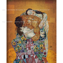купить Gustav Klimt portrait painting The Family by Gustav Klimt Paintings Wall Art Picture Home Decor Bronze Painting for Living Room по цене 8936 рублей