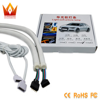 2pcs 60cm RGB DRL Flexible LED Tube Strip Style Daytime Running Lights Tear Strip Car Headlight