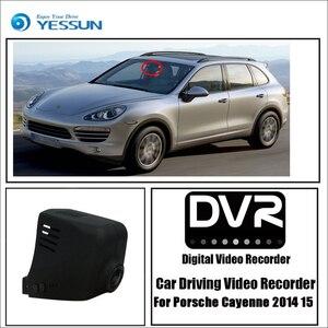 YESSUN para Porsche Cayenne 2014 de conducción 2015 grabador Dvr coche Mini cámara Wifi Video Full HD 1080P cámara de salpicadero