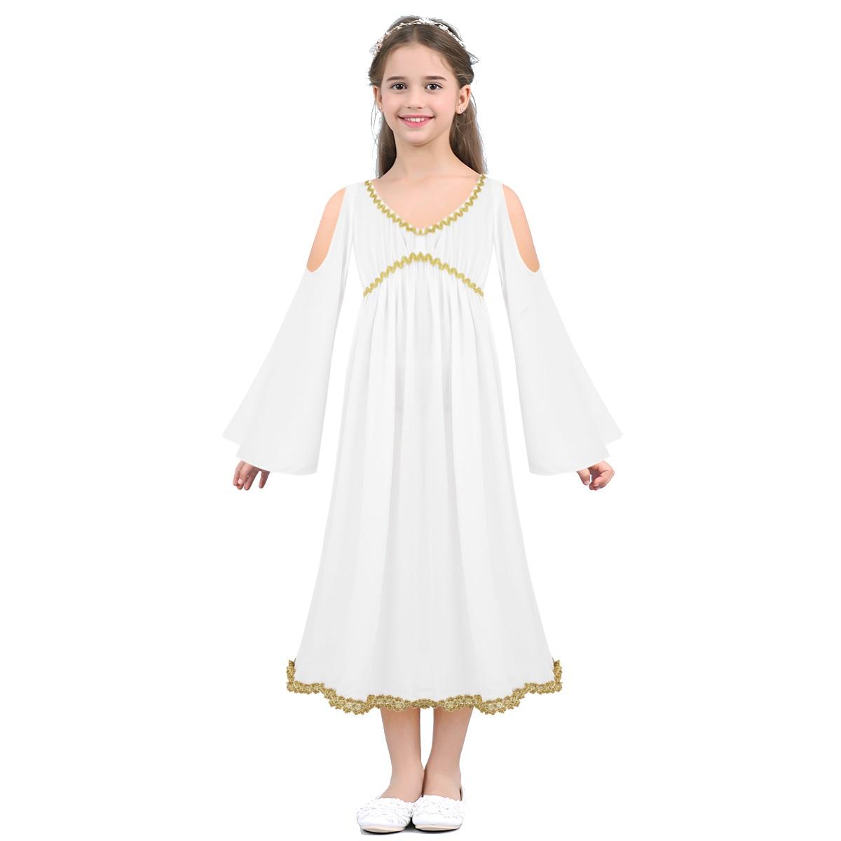 Per bambini DEA GRECA COSTUME Toga GRECIAN Ragazze Vestito M