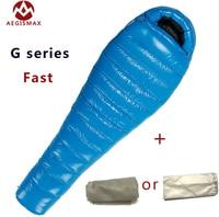 G1/G2/G3 Aegismax профессиональный Сверхлегкий Открытый белый гусиный пух тип зима Мумия спальный мешок