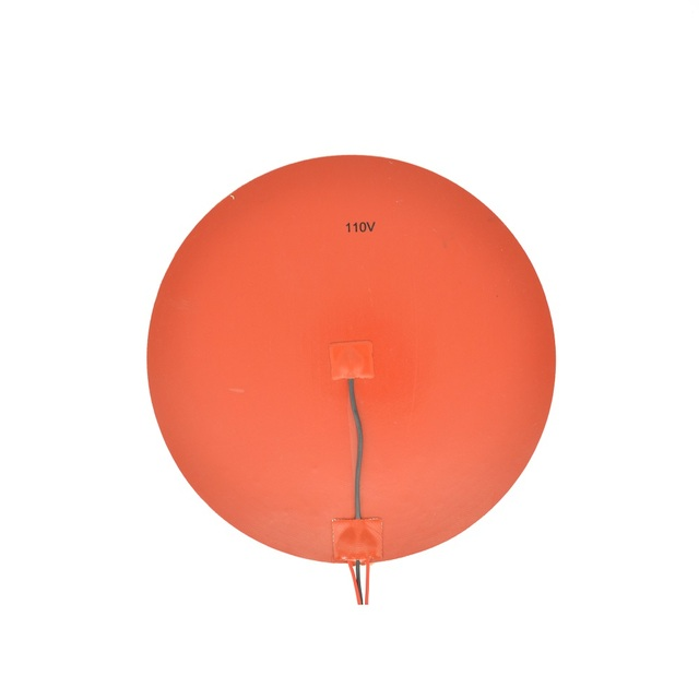 110V 300mm Round Silicone Rubber Heater Pad