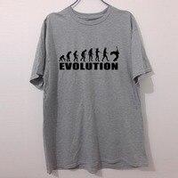 Evolução banda Guitarra electric bass rock acústico música humor ENGRAÇADO IMPRESSO T-shirt DOS HOMENS T Tshirt da CAMISA Grande presente Unisex