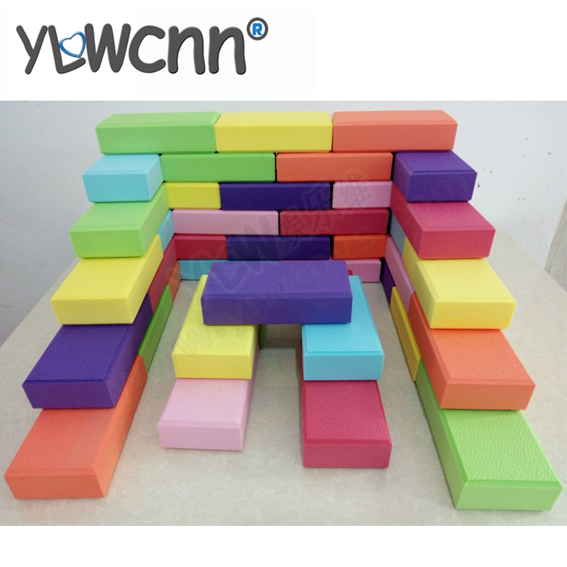 Large EVA Building Block Games For Play Center,amusement Indoor Playground Soft Toy Bricks,children Play Medium-size EVA Block