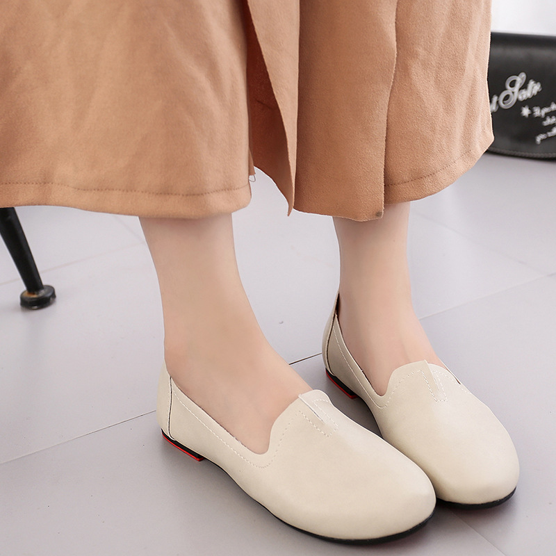 Women Flats Casual Solid Pointed Toe Slip-On Flat Shoes Soft Comfortable 2017 Spring  Women Loafers White Shoes  Plus Size 35-39 women flats slip on casual shoes 2017 summer fashion new comfortable flock pointed toe flat shoes woman work loafers plus size