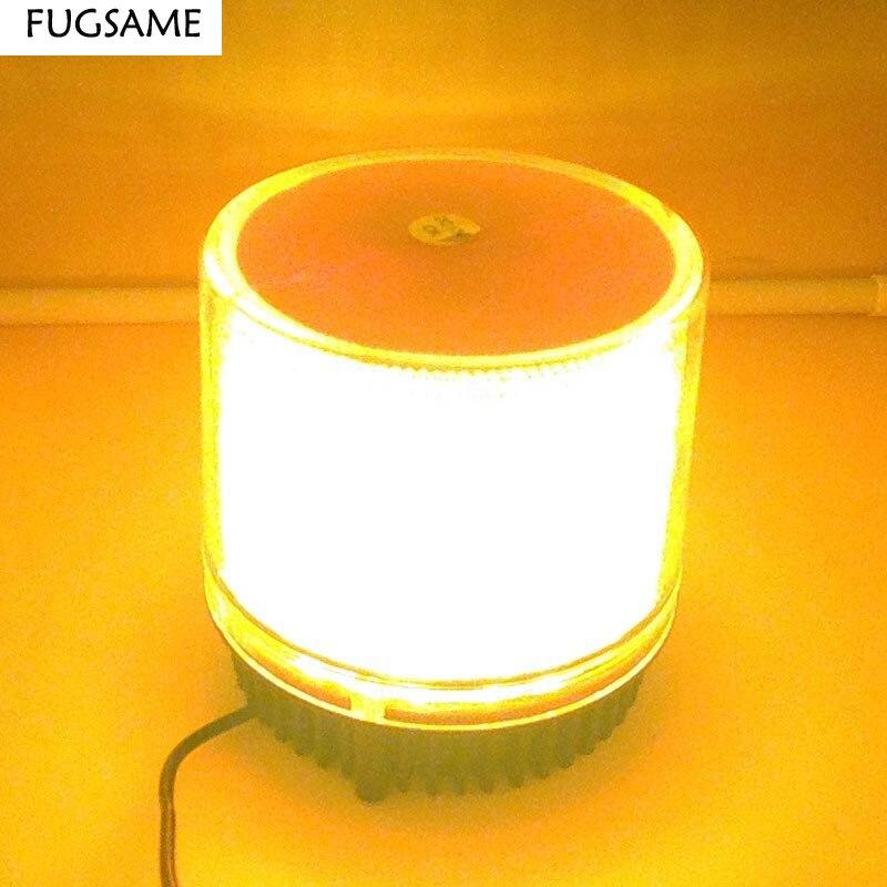 FUGSAME 12V AMBER ROTATING BEACON WARNING LIGHT CAUTION REVOLVING CAR ROOF emmergency lighting multi-function indicator