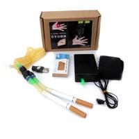 Super Foot Control Electronic Double Tube Spray Smoke Device 10 Pcs Cartridges Magic Tricks The Mist