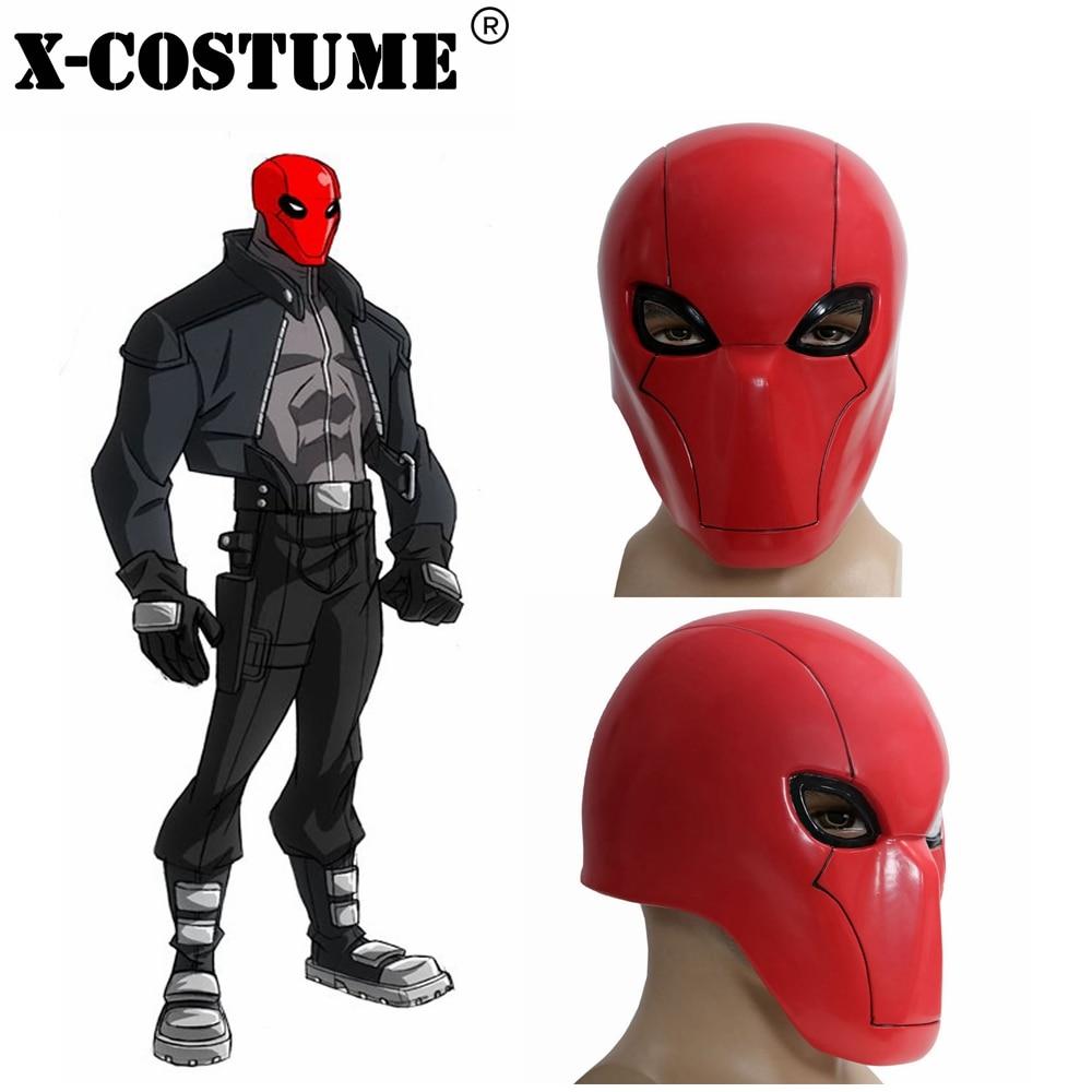 Coslive Halloween film Cosplay rouge capuche masque Batman sous le capot rouge pleine tête PVC casque adulte rouge Cosplay accessoires