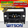 WITSON Android 5.1 Quad Core de DVD DEL COCHE para CITROEN C4 2004-2012 AUTO RADIO de SAT NAV + 1024X600 PANTALLA + DVR/WIFI/3G + DSP + RDS + 16 GB flash