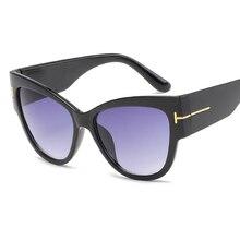 2017 Hombres gafas de Sol Mujeres Primera Marca de Lujo de Gran Tamaño Del Ojo de Gato Gafas de sol de la Mujer Retro de La Vendimia Grandes gafas de Marco Gafas de Sol Mujer