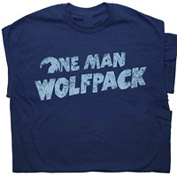 OKOUFEN One Man Wolfpack T Shirt The Hangover Funny Cult Movie Film Wolfman Novelty Humor Tee