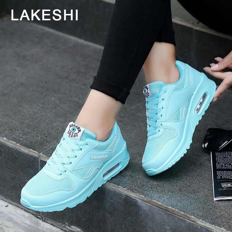 ผู้หญิงรองเท้าผ้าใบขนาดใหญ่รองเท้าผู้หญิง LACE-Up รองเท้าผ้าใบกลางแจ้งเดินสบายๆสุภาพสตรีรองเท้าฤดูใบไม้ผลิรองเท้าผ้าใบรองเท้า