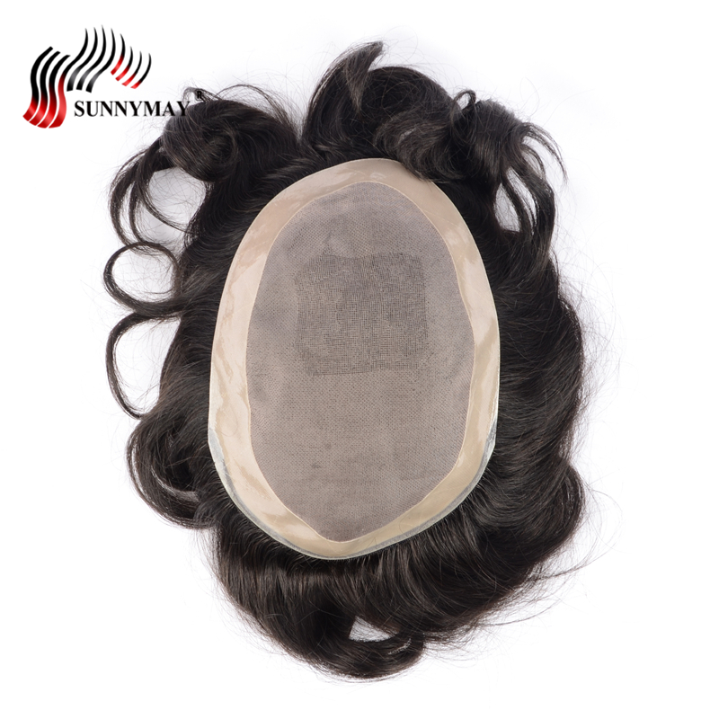 stock fine mono with skin around , hair men toupee , hair replacement men toupee free shipping