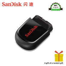 100% Original SanDisk USB Flash Drive CZ33 64GB 32G 16GB 8GB mini pen drive USB 2.0 Support official verification free shipping(China)