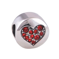 Everbling Jewelry LOVE Red CZ 100 925 Sterling Silver Charm Bead Fits Pandora European Charms Bracelet