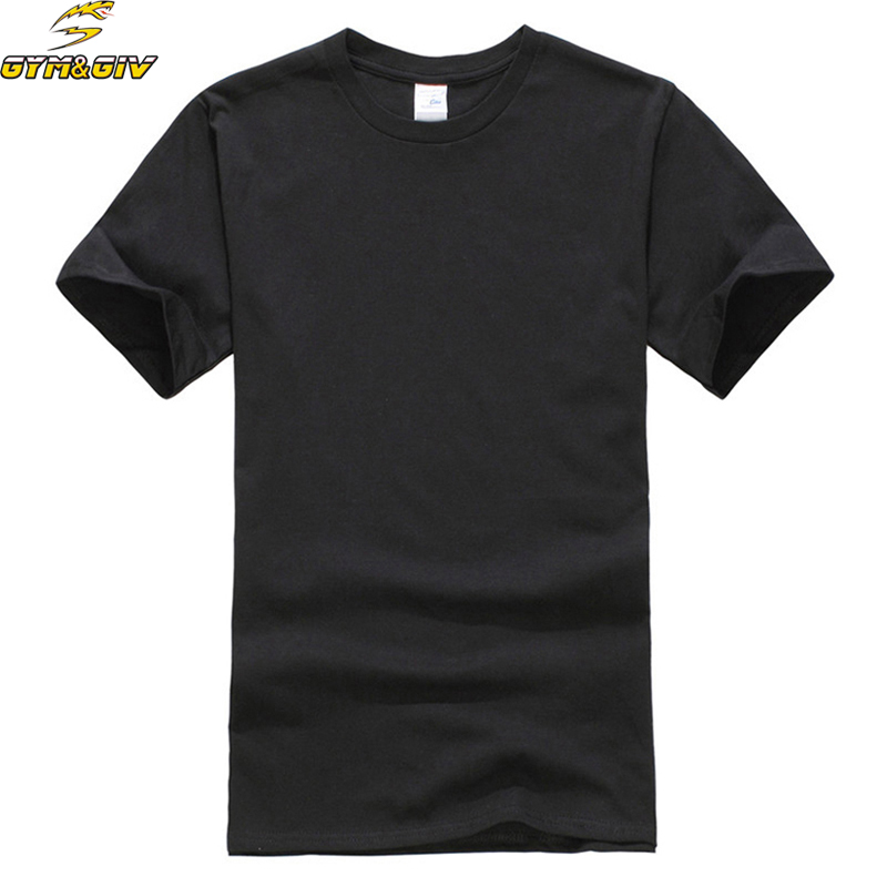 New Europe Size Solid color T Shirt Mens Black And White 100% cotton T-shirts Summer Skateboard Tee Boy Skate Tshirt Tops &Tees