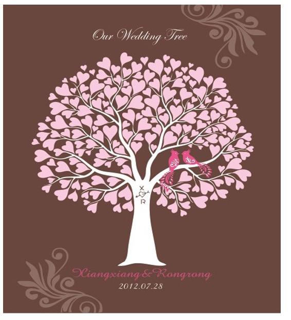 new design fingerprint wedding tree guest book signature