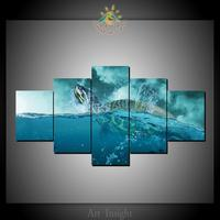 4 Pieces Sea Turtle Modern Wall Art Pictures HD Printed Canvas Painting Modular Pictures HD Paints