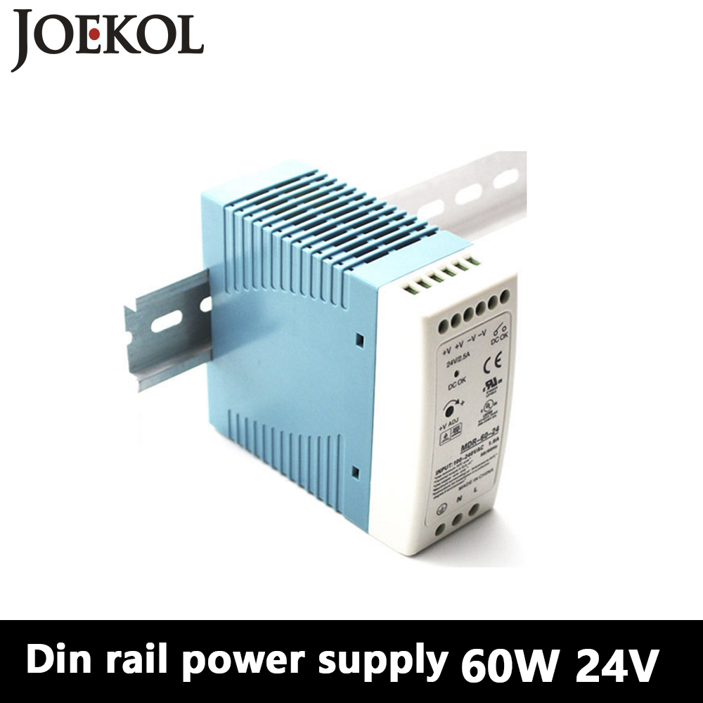 MDR-60 Din Rail Power Supply 60W 24V 2.5A,Switching Power Supply AC 110v/220v Transformer To DC 24v,ac dc converter mdr 100 din rail power supply 100w 48v 2a switching power supply ac 110v 220v transformer to dc 48v ac dc converter
