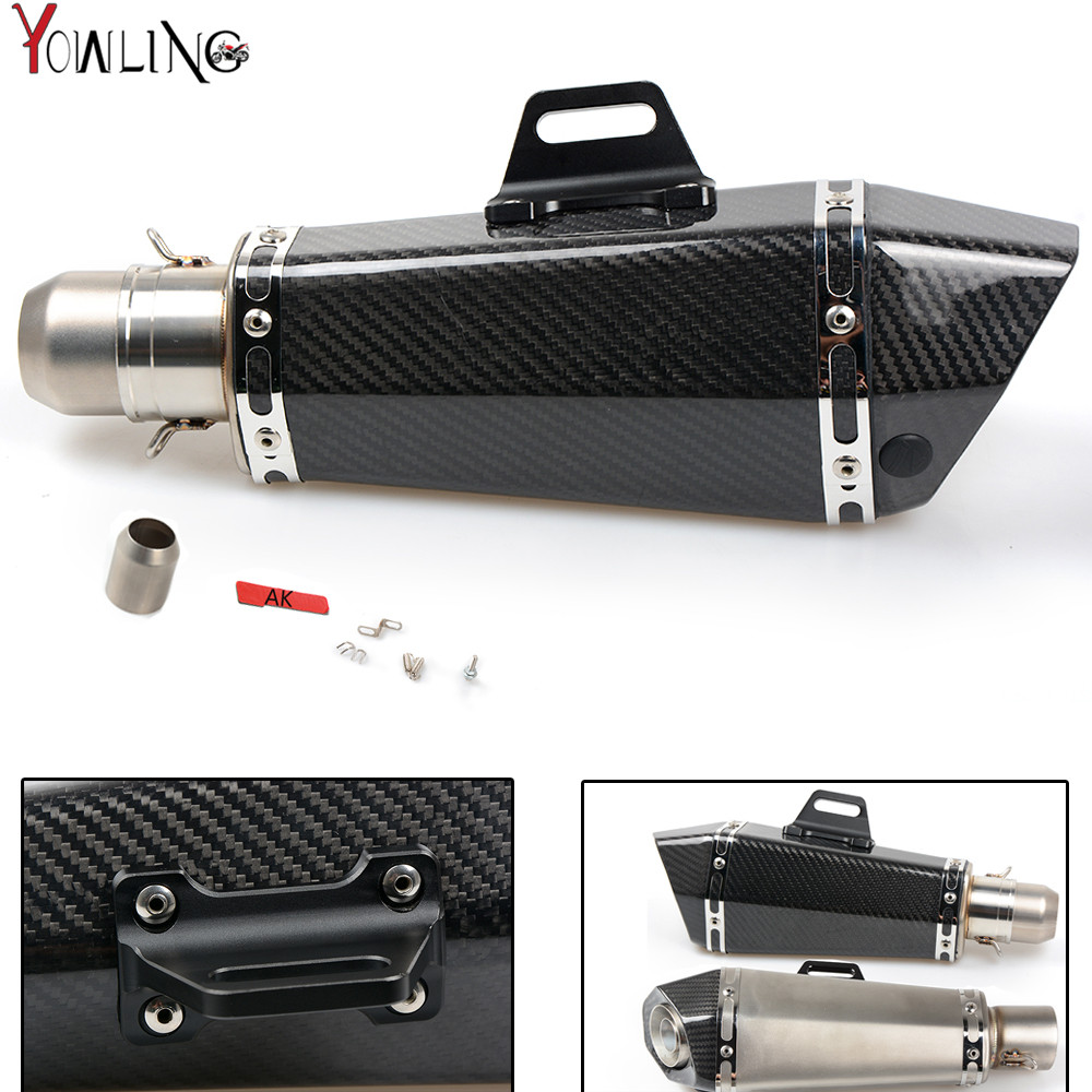 Motorcycle Real carbon fiber exhaust Exhaust Muffler pipe For Honda CBR 600 F2 F3 F4 F4i CBR600RR CB1000R CBR 300R CB300F CB 300 new style motorcycle middle exhaust pipe stainless steel exhaust pipe for honda cbr600rr f5 cbr 600 rr 2007 2008 2015 years
