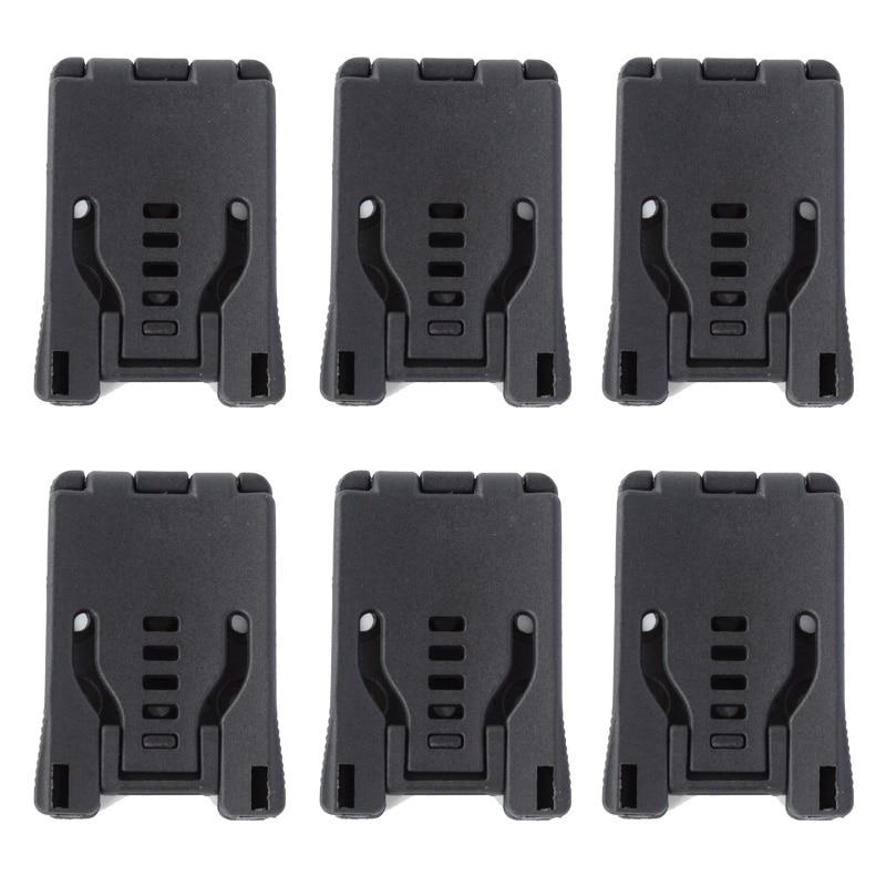Set van 6, Travel Buckle grote Tek Lok riemclip lus voor mes Kydex schede / holster met hardware, speciaal voor DIY