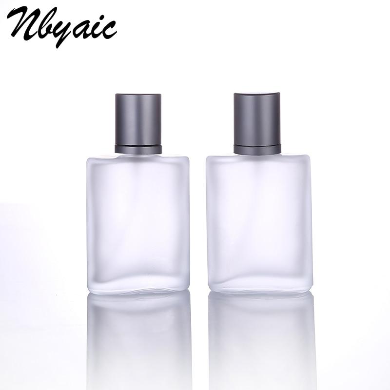 Флакон-спрей из матового стекла 30 мл, 50 мл, парфюмерный дозатор высокого качества, флакон-спрей для косметики, пустая бутылка для прессовани...