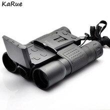 Câmera Digital Tela de 2.0 polegada KaRue 1.3MP lente Do Telescópio Binocular Camcorder CMOS 12×32 microSD/TF cor preta caixa Para presente
