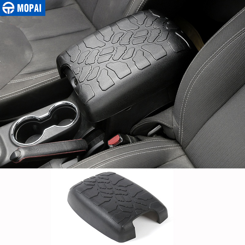 MOPAI Rubber Car Interior Decoration Seat Armrests Pad Mat Guard Cover For Jeep Wrangler 2012-2016 Car Styling
