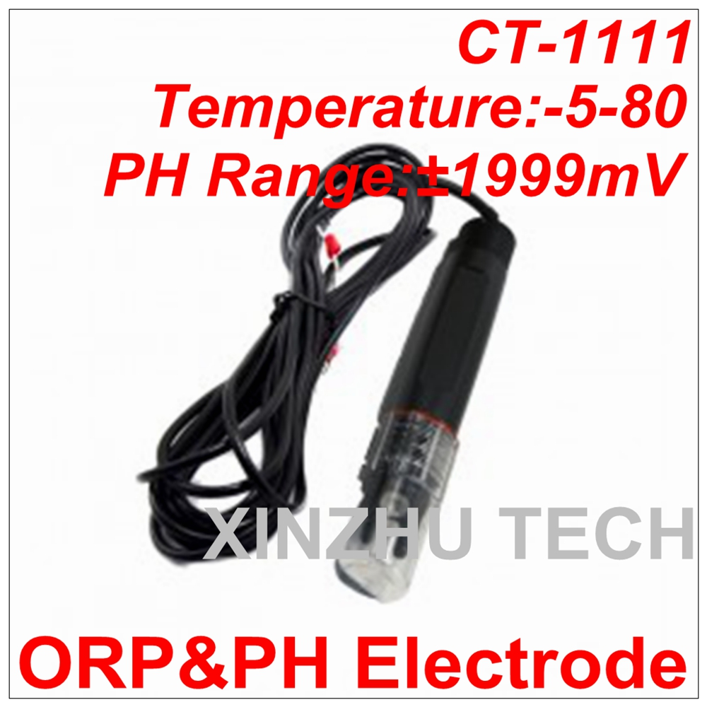 High Accuracy ORP&pH Electrode Industrial CT-1111 pH Electrode ORP Electrode pH Range 1999 mV Temperature -50-80 Degrees цена