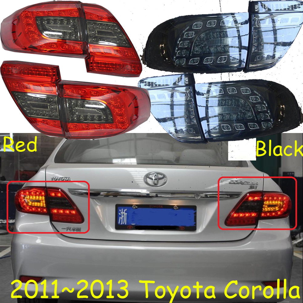 Corolla taillight,2011~2013;Free ship!LED,corolla rear light,optional:Red/Black color,altis,corolla fog light;Carmy,prado for toyota corolla altis led tail light 2011 2012 year smoke black color yzv2