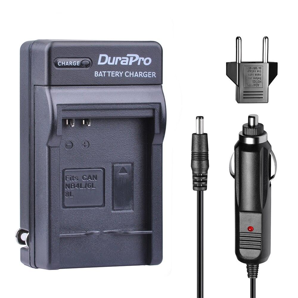 1pc durapro NB-4L NB-6L NB-8L 車/壁の充電器 + eu キヤノン nb 4L 6L 8L ixus 100 110 30 は ixy digital 10 SD300 カメラ